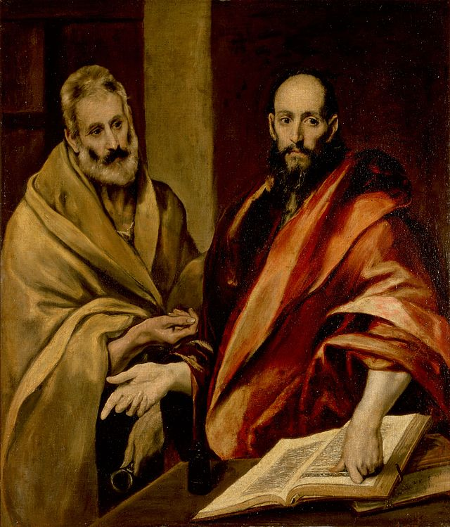 Painting of Saints Peter and Paul by El Greco