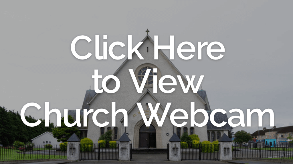 graphic for webcam button, displaying church, with text overlay to click to view webcam